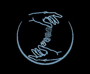 Logo mains et osselets, l'ostéopathie une pratique douce